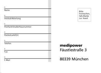 Vi Sample medipower_ruecksendekarte_rs 世界标志大全 - Logo Design World! - 汇聚全球顶级标志设计大师数万经典作品